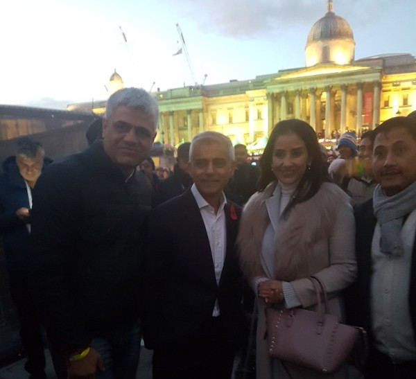 Bollywood actor Manisha Koirala surprises London at Diwali on the Square