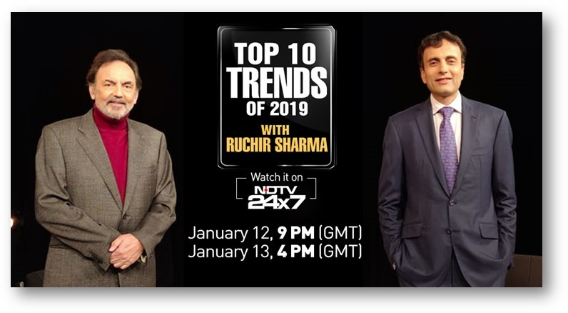 India's global news channel NDTV 24x7 explores the top 10 trends of 2019